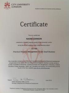 No final exam, but I did get a certificate!