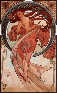 Dance from Les Arts by Alphonse Mucha